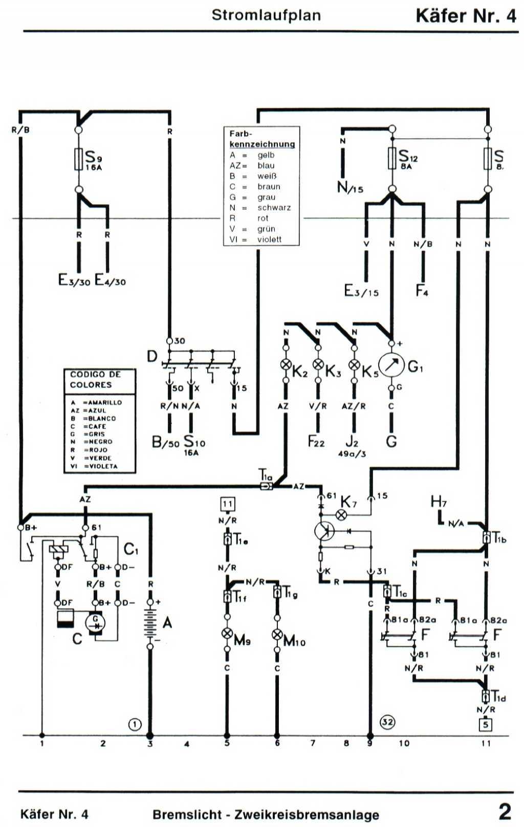 Atemberaubend Vw Käfer Generator Schaltplan Galerie - Schaltplan ...