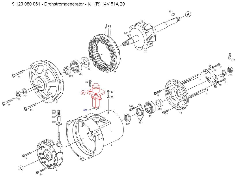 bosch al82n alternator parts  - vw forum